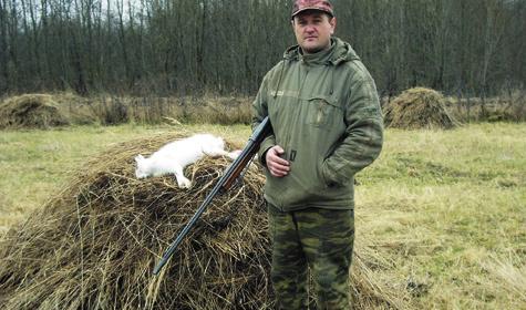 На зайцев в узёрку