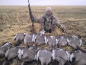Гусиная охота в Казахстане
